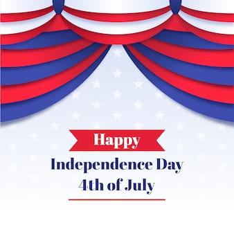 Unabhängigkeitstag mit vorhang