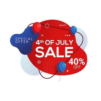 Unabhängigkeitstag-verkaufsfahne 4. juli usa