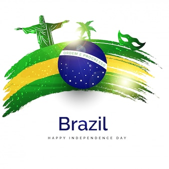 Unabhängigkeitstag von brasilien-plakat- oder -fahnendesign.
