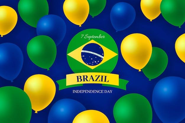 Unabhängigkeitstag von brasilien realistischen hintergrund