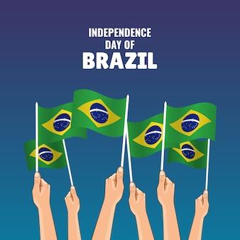 Unabhängigkeitstag von brasilien.