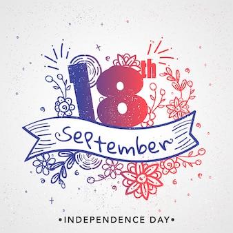 Unabhängigkeitstag von chile-hintergrund-design