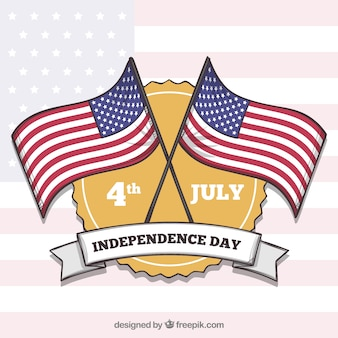 Unabhängigkeitstag von juli 4. hintergrund mit flaggen