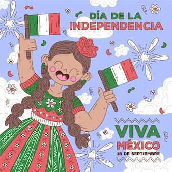 Unabhängigkeitstag von mexiko illustration