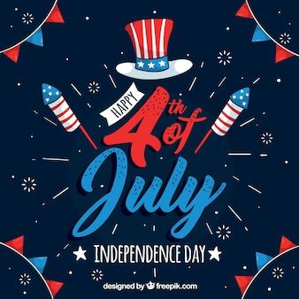 Unabhängigkeitstag-Feierhintergrund Vereinigter Staaten