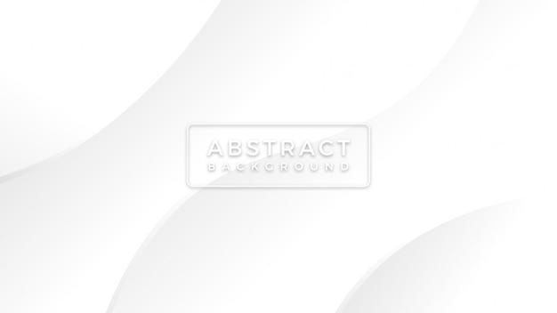 Unbedeutender einfacher weißer hintergrund mit abstrakter moderner eleganter welle zeichnet hintergrund