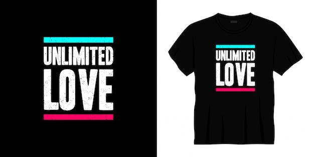 Unbegrenzte liebe typografie t-shirt design.
