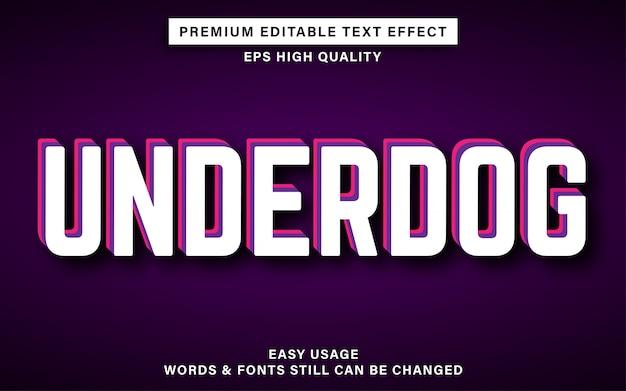 Underdog bearbeitbarer texteffekt