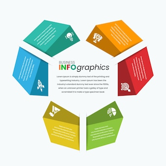 Unebener pfeil wie infografik-vorlage