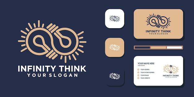 Unendlich denken. logo und visitenkartenreferenz