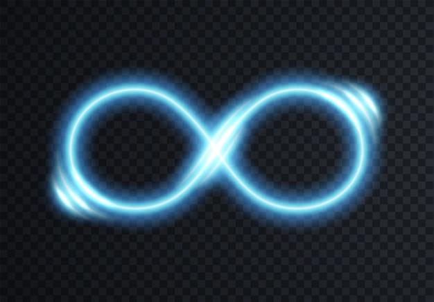Unendlich leuchtendes symbol