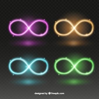 Unendlichkeitssymbol mit glühendem effekt