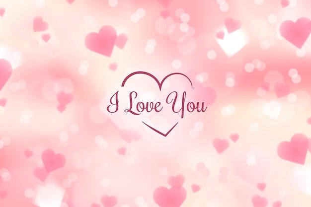 Unfokussierter valentinstaghintergrund
