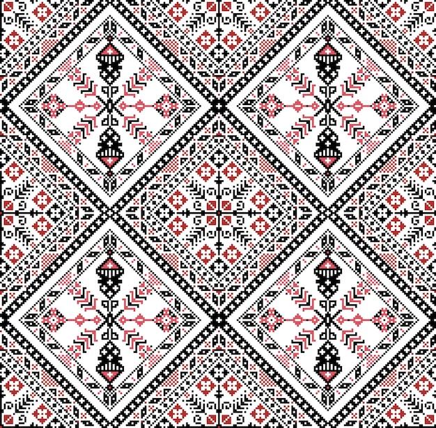 Ungarisches pixelmuster für kreuzstich.