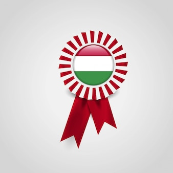 Ungarn flag ribbon banner abzeichen