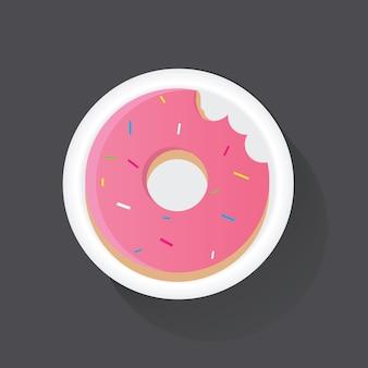 Ungesunde lebensmittelillustration des donuts