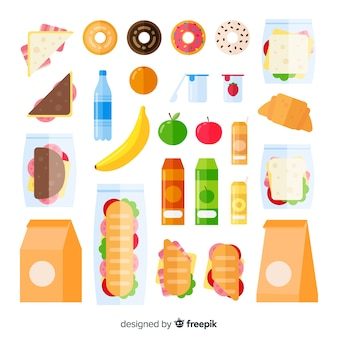 Ungesunde snack-packung