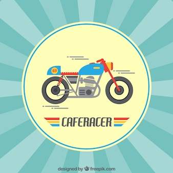 Unglaubliche motorrad mit voller geschwindigkeit