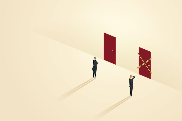 Ungleiche geschäftsmöglichkeiten zwischen unternehmern und geschäftsfrauen