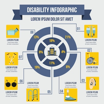 Ungültige infografik-vorlage, flacher stil