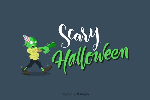 Unheimlich halloween-schriftzug