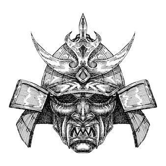 Unheimlich samurai helm maske