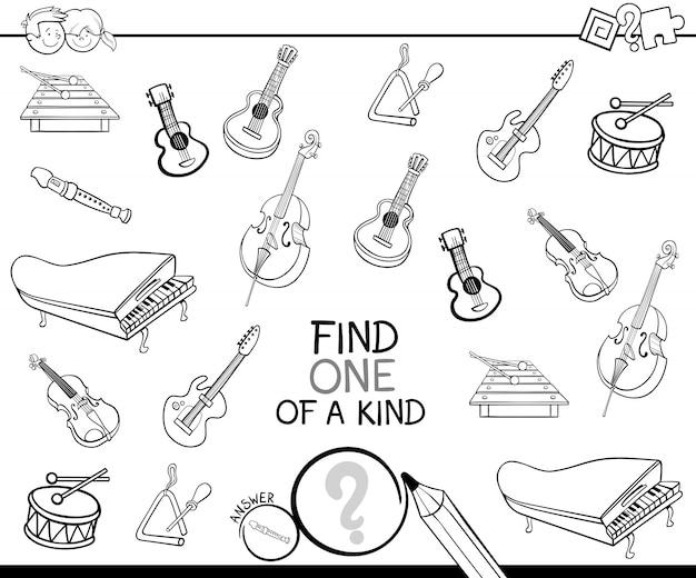 Unikat mit musikinstrumenten farbbuch