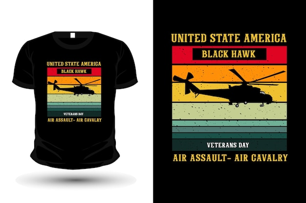 United state american air army merchandise silhouette mockup t-shirt design