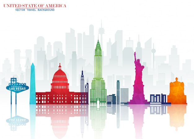 United states of america landmark global travel & journey papier hintergrund