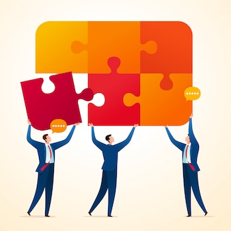 Uniting business puzzle