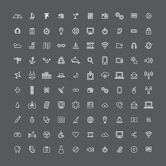 Universal-ikonen-konzept der illustrations-ui