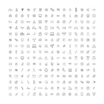 Universalikonen-konzept des vektor-illustrations-ui