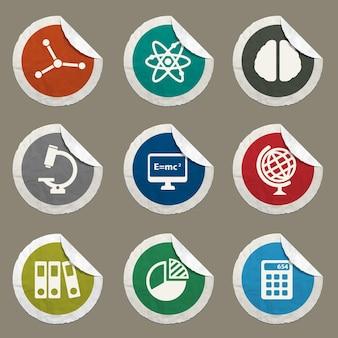 Universitätsvektorsymbole für websites und benutzeroberfläche