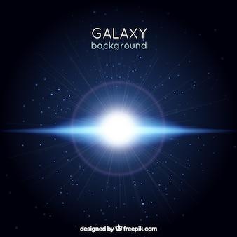 Universum hintergrund mit blitz
