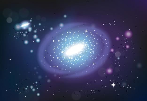 Universum system realistische komposition