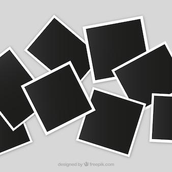 Unordentliche fotorahmencollage