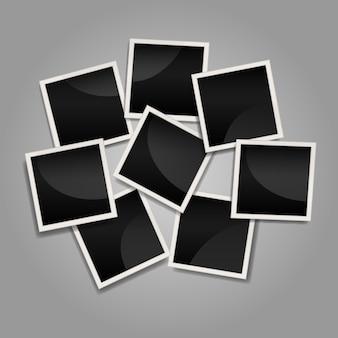 Unordentliche sofortige fotorahmencollage mit flachem design