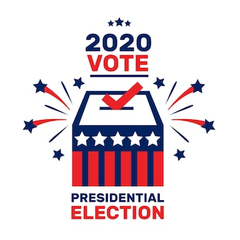 Uns präsidentschaftswahlkonzept illustriert