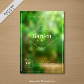 Unscharf vegetation gartenparty-karte