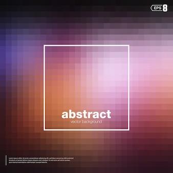 Unscharfe mosaikhintergrund schwarze und rote farbe. die elemente sind quadratische formen.