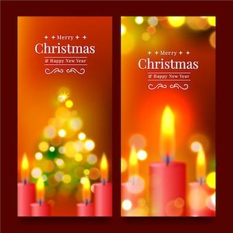 Unscharfe weihnachtsbanner-vorlage