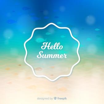 Unscharfer bunter hallo sommerhintergrund