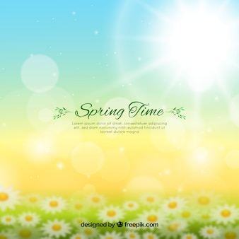 Unscharfer Frühlingshintergrund