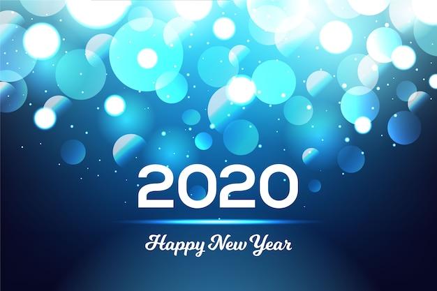 Unscharfer hintergrund des neuen jahres 2020