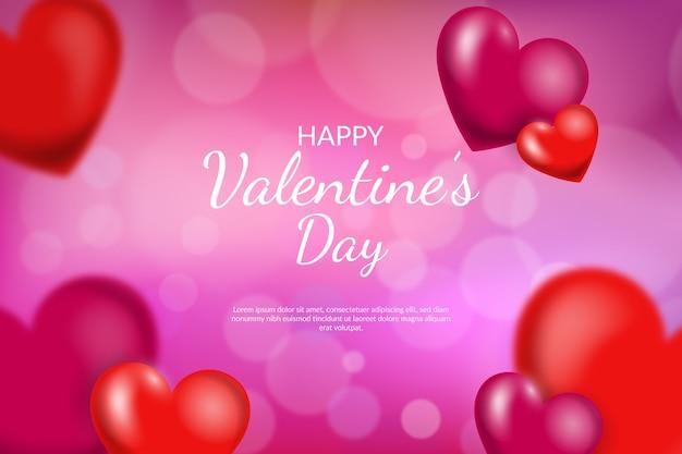 Unscharfer valentinstaghintergrund mit herzen