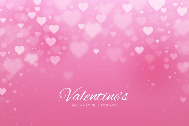 Unscharfer valentinstaghintergrund