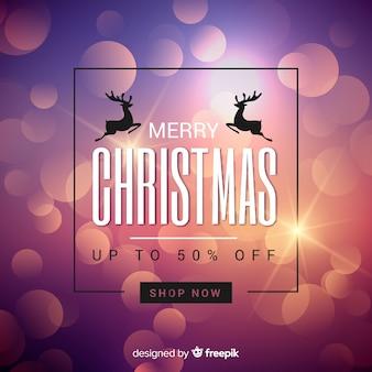 Unscharfer weihnachtsverkaufshintergrund