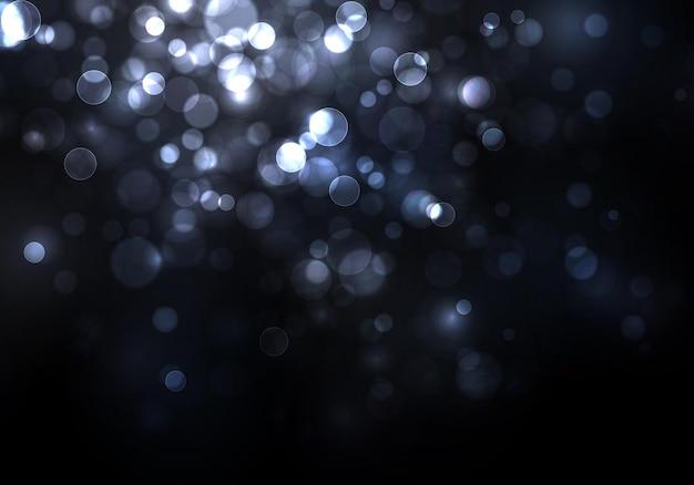 Unscharfes bokeh-licht weihnachts- und neujahrsfeiertage glitzern defokussiert blinkende sterne funken