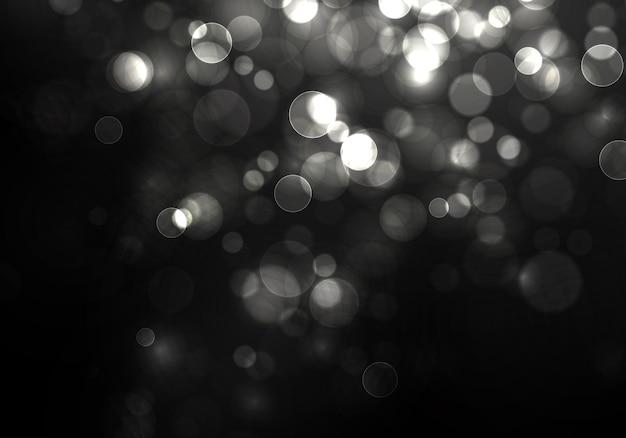 Unscharfes bokeh-licht weihnachts- und neujahrsfeiertage silberner glitzer defokussiert blinkende sterne funken