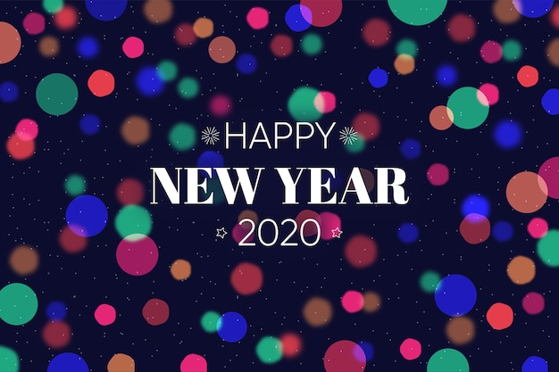 Unscharfes hintergrundkonzept des neuen jahres 2020